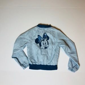 Gap Kids Minnie Mouse Bomber Jacket